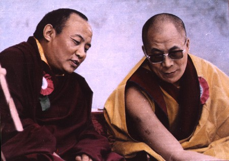 H.H. Dalai Lama and 16th Karmapa