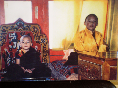 H.H. Karmapa and Kalu Rinpoche