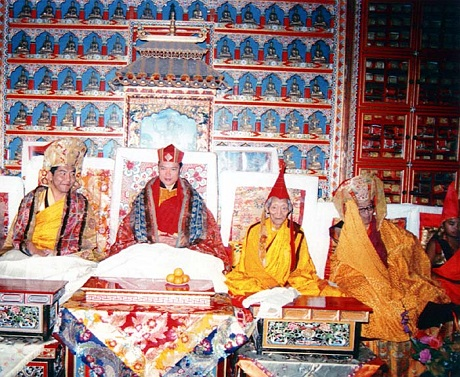 H.E. Tai Situpa and Rinpoches
