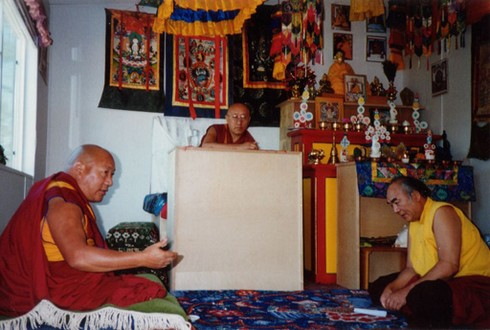Bokar Rinpoche and Lama Lodu