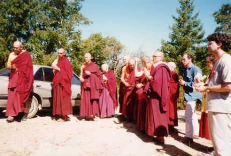 1997 Retreatants entering the gate