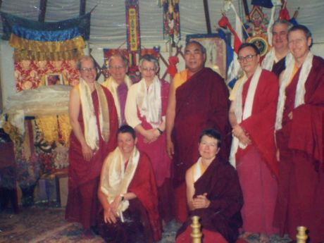 Lama Lodu Rinpoche with new Lamas